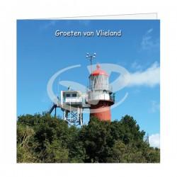 Wenskaart Vuurtoren Vlieland