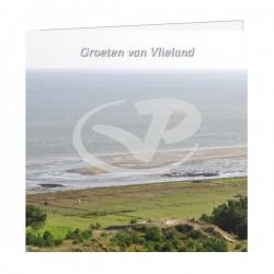 Wenskaart Vlieland Wad vanaf Vuurboetsduin