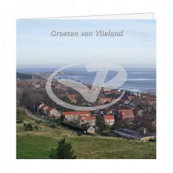 Wenskaart Vlieland Dorp vanaf Vuurtoren