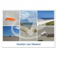 Ansichtkaart A6 Vlieland Duindoorkijk Compilatie