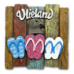 Magneet Polystone Vlieland Wandbord Met Slippers