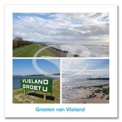 Ansichtkaart 15x15 Kusten Vlieland Compilatie