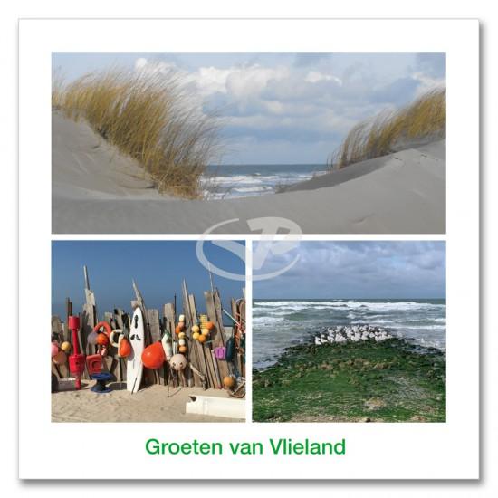 Ansichtkaart 15x15 Duin en Strand Vlieland Compilatie