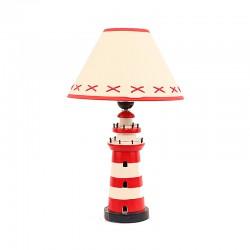 Vuurtoren Lamp - Rood Wit - Luxe uitvoering