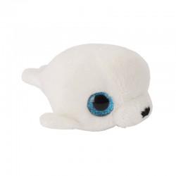 Pluche Zeehond met Glitter Ogen Wit 11,5cm.
