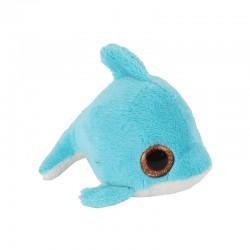 Pluche Dolfijn met Glitter Ogen 11,5cm.