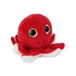 Pluche Octopus met Glitter Ogen 11,5cm.